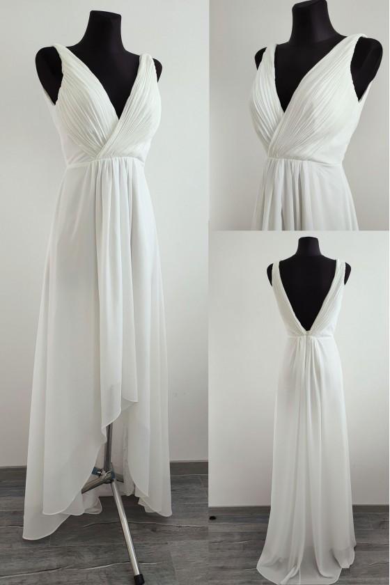Pôvabné svadobné - popolnočné šaty 30101