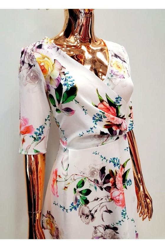Kvetované šaty 30032