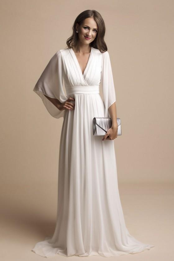 Jednoduché svadobné šaty aj...