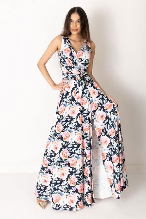 Dámske šaty s kvetovým vzorom 3312