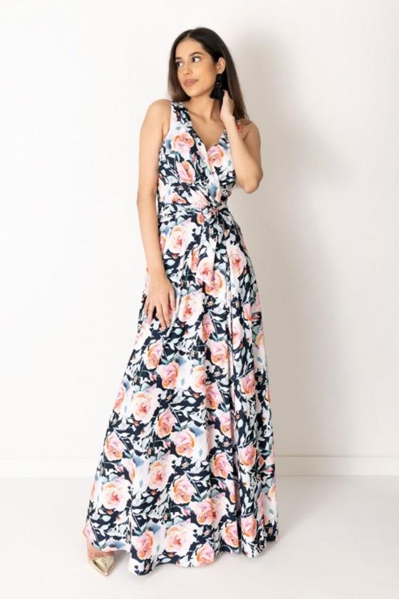 Dámske šaty s kvetovým...