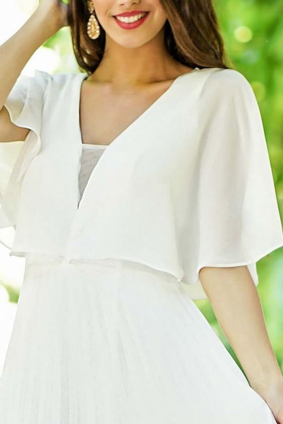 Jednoduché svadobné šaty 30123