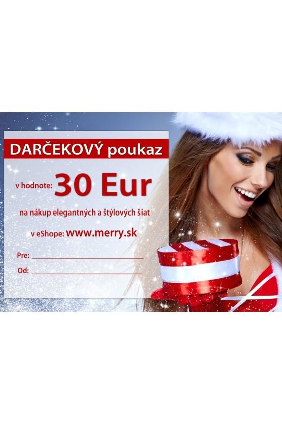Vianočný darčekový poukaz 30