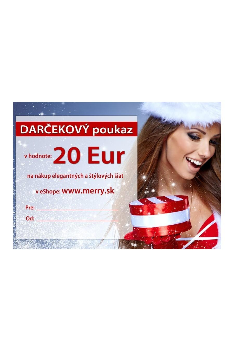 Vianočný darčekový poukaz 20 + BONUS