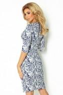 Dámske šaty s rukávom 2487